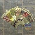 7 шт./лот 7 конструкции Евро красочные Золото Произведение Красочные Европа Банкноты Золотой Фольги Покрытием Поддельные Деньги Бумага Творческий Подарок