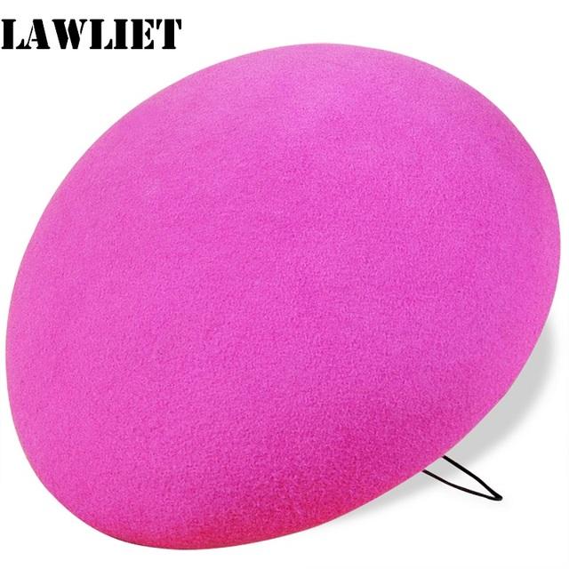 A048 Rosa Redondo del Círculo de Fieltro de Lana Sombrero Pastillero de la Sombrerería TearDrop Fascinator Base Cóctel