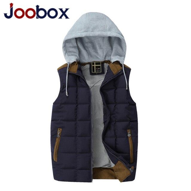 JOOBOX 2017 Brand mens vest Casual Winter down Coat mail Warm Sleeveless Jacket Cotton-padded High Quality Men Waistcoat (MJ09)