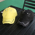 Bigbang GD primavera verano broche pin del sombrero Hip Hop agujeros gorra de béisbol