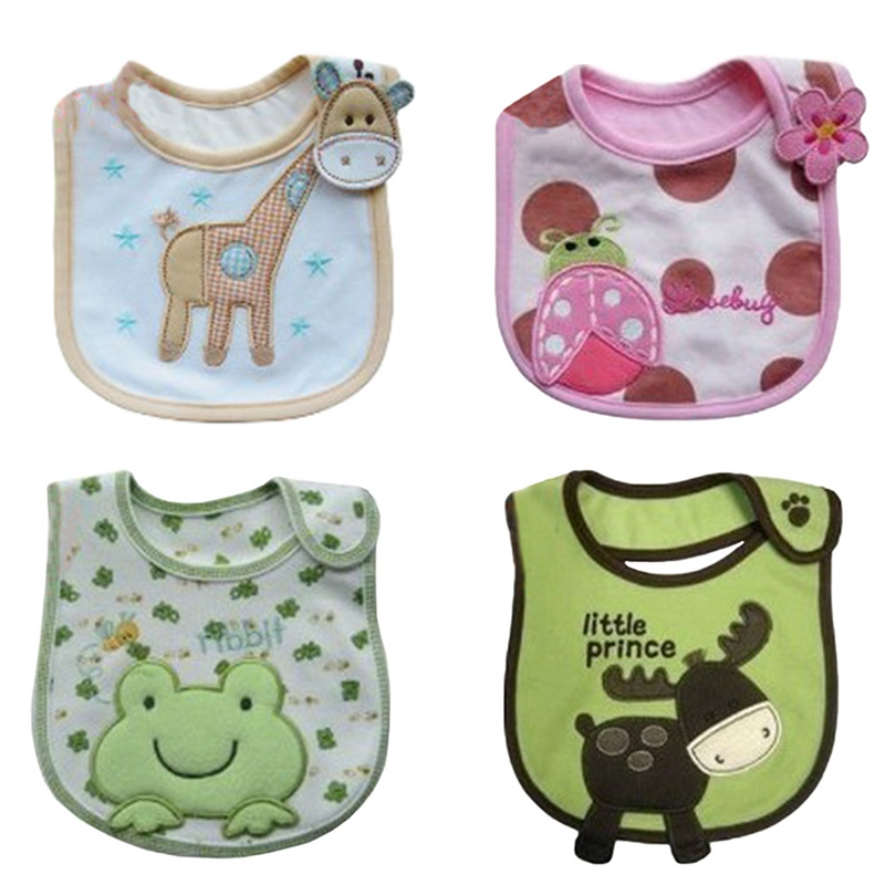100% Cotton Baby Bib Infant Saliva Towels Baby Waterproof Bibs Newborn Wear Cartoon Accessories animal shape cartoon lion pattern waterproof bib green yellow
