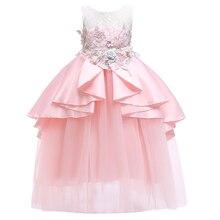 Christmas girl dress party summer princess wedding birthday new year 3-12yrs baby clothes