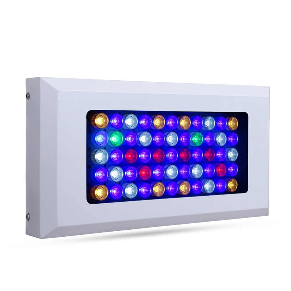 Profession Aquarium Lights 165w Dimmable 3W LED chips Coral underwater plants grow fish aquarium led light free shipping