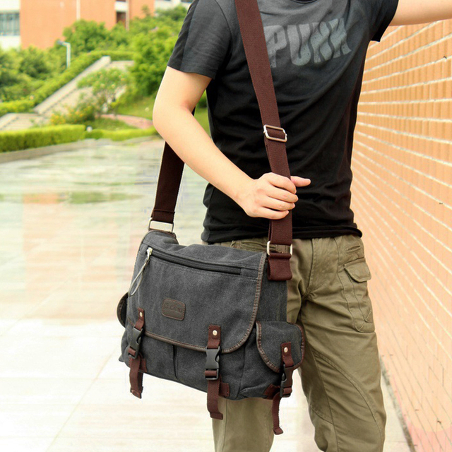 Men Business Crossbody Bag Printing Travel Handbag Vintage Men's Messenger Bags Canvas Shoulder Handbag 4