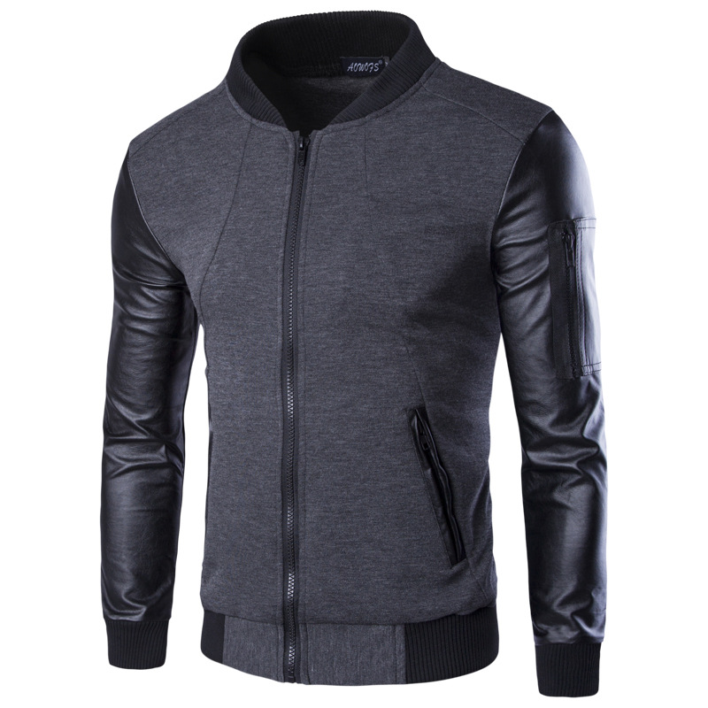 Compare Prices on Leather Sleeve Sports Jackets- Online Shopping