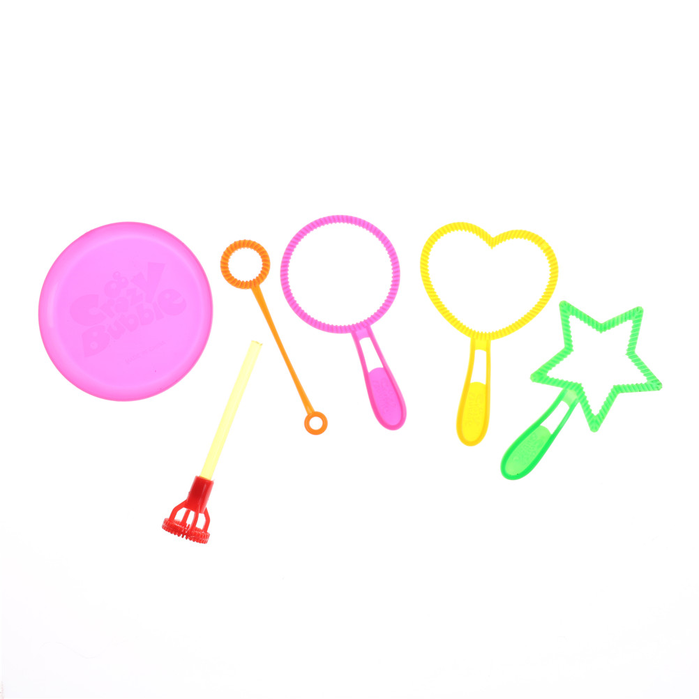 Bubbles Toys & Hobbies 6pcs Blowing Bubble Soap Tools Toy Bubble Sticks Set Outdoor Bubble Toys For Children