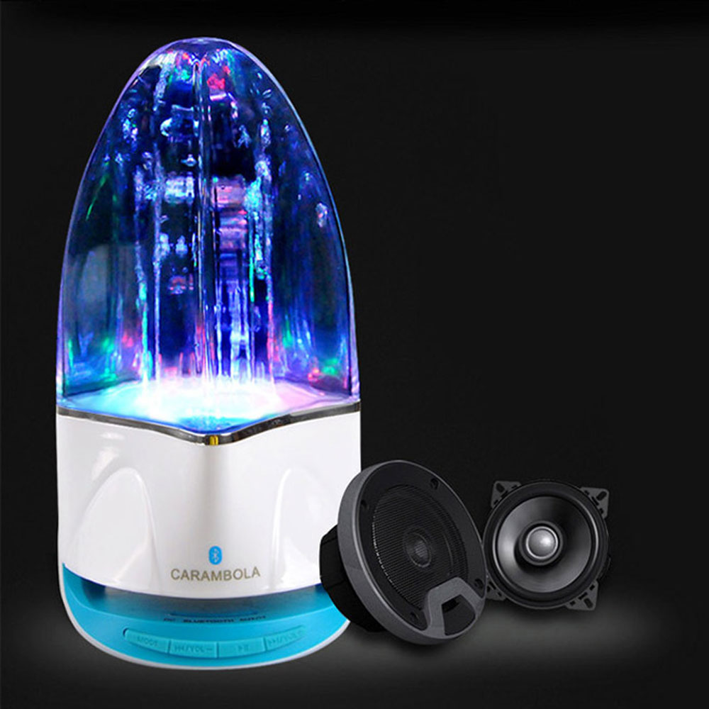 Mini danse jet d'eau Bluetooth haut-parleur lampe stéréo coloré colonne d'eau musique fontaine haut-parleur TF carte UDisk veilleuse MYC