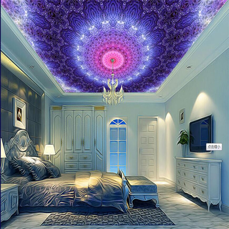 background hall 3d living luxury wallpapers space mural decoration ceiling zoom beibehang decor