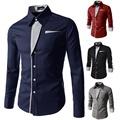Camisa a rayas de los hombres camisa de manga larga 2016 nueva marca casual camisa para los hombres slim fit esmoquin camisa masculina tamaño 3xl