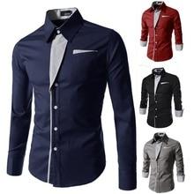 striped shirt men long sleeve   casual shirt chemise for men slim fit tuxedo shirt camisa masculina size 3xl
