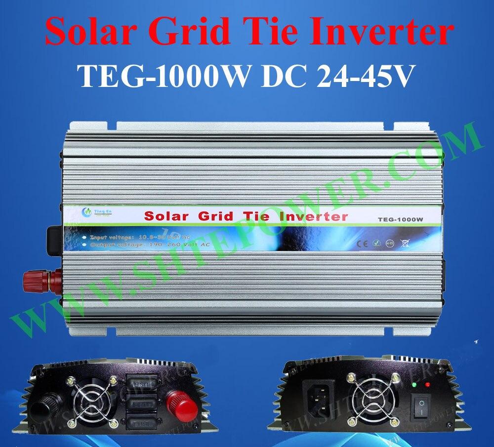 DC 24-45V to AC 110V 120V 220V 230V 1000W On Grid Solar Power Inverter With MPPT dc 45v