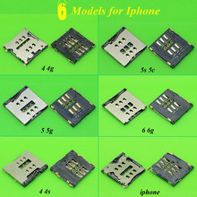 ChengHaoRan 6 Models Micro SIM Card Reader for Iphone 4 4G 4S 5 5S 6 6G SIM Tray Slot Socket Replacement Connector