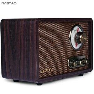 Image 2 - FM/AM Radio double bande Antique bois Vintage classique rétro maison bureau Radio Bluetooth haut parleur