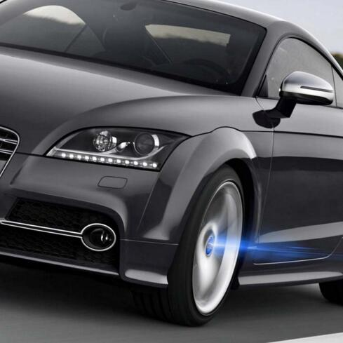 4pcs Fashion Car Wheel Center Caps Hub Solar LED Flash Light Magnetic Suspension for BMW(All Cars Available)