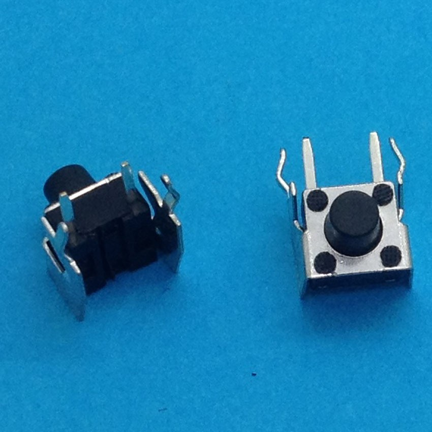 100pcs 6 x 6 x 6.5mm SMD SMT Momentary Tactile Push Button Switch Non Lock 4 Pin