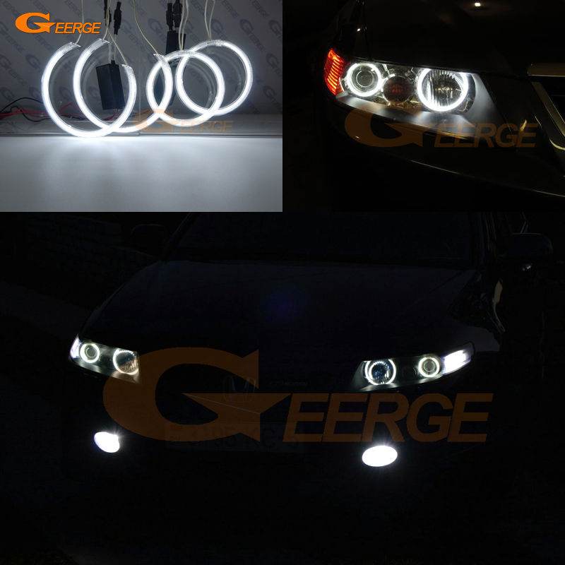 For honda accord CL7 CL9 CM2 2002 2003 2004 2005 2006 2007 2008 Excellent 4 pcs Ultra bright CCFL angel eyes kit Halo Ring for mazda 3 mazda3 2002 2003 2004 2005 2006 2007 ultra bright day light drl ccfl angel eyes demon eyes kit warm white halo ring
