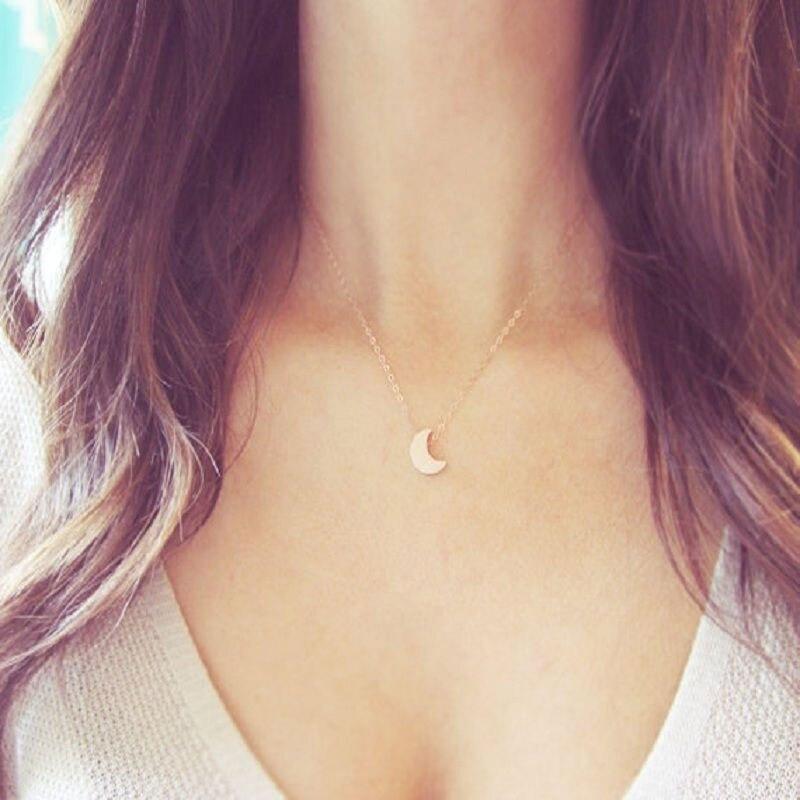 96f375a5ceff 8 unids set oro plata Crescent Moon COLLAR COLGANTE moda mujeres ropa  Accesorios joyería diseño simple  81609 en Collares pendientes de Joyería y  accesorios ...