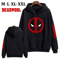 Deadpool Comic Super Hero Men Women Winter Warm Coat Hoodie Thermal Sweatshirt Cosplay Boys Girls Xmas Gift M XXL
