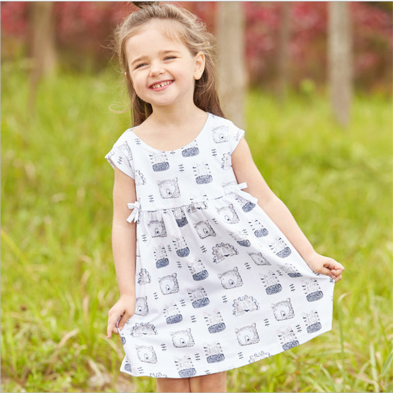 New fashion tiger print baby dresses sleeveless cotton children clothes summer casual kids clothes frocks toddler girls dress summer baby girl printed pattern straps dresses toddler girls baby clothing sleeveless baby dress kids casual clothes yp