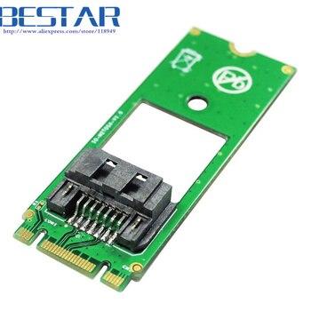 Lo contrario SATA HDD disco duro disco a M.2 NGFF clave B hembra convertidor de adaptador de tarjeta de 60mm