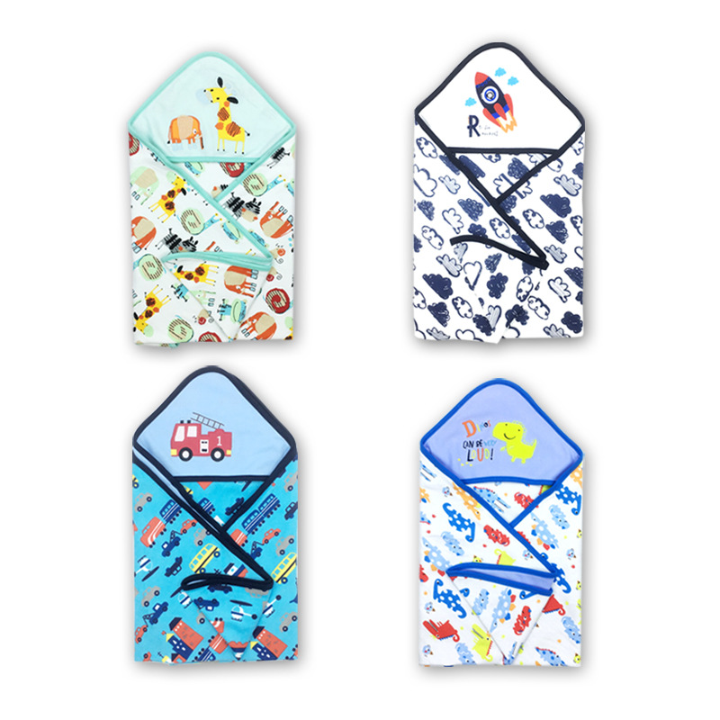Newborn Baby Sleeping Bag Towel Covered New Baby Hugs Summer Baby Wrapped Sleeping Bag\autumn Winter 75X75CM