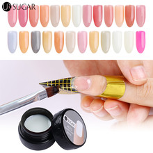 UR SUGAR 7ml Semi-transparent Nail Builder Gel Nail Tips Finger Extension Glue Nail Art UV Builder Gel Nail Cover