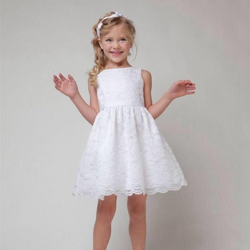 2ad3bd86 2019 vestidos de encaje blanco para niñas, vestido de fiesta rojo de verano para  niños, vestido de fiesta de cumpleaños de princesa, ropa de fiesta de boda
