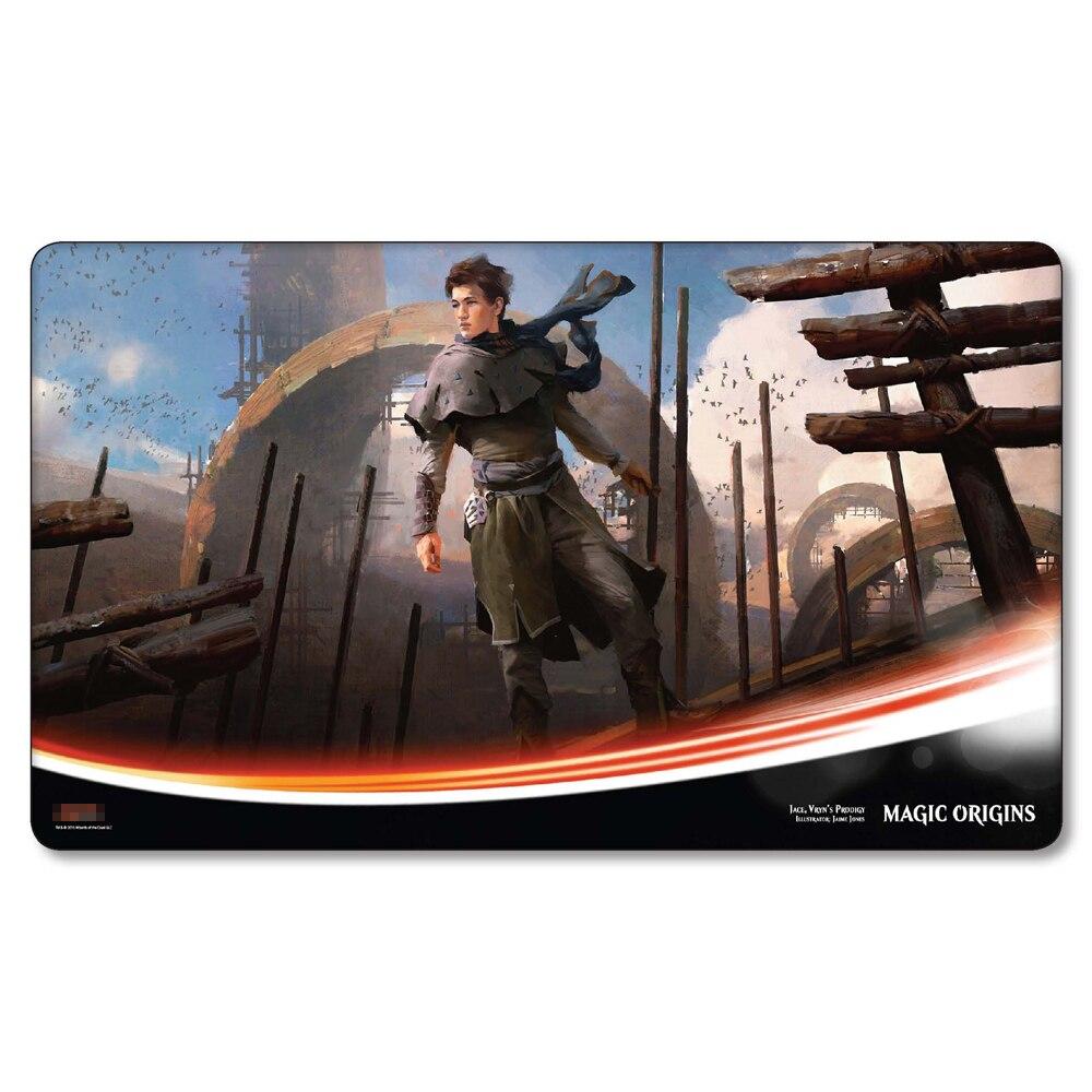 (Prodigy of Vurin Jace) Many Choice Magic Game Custom Playmat,Board Games MGT Play Mat,Custom Gather Big Mousepad with Free Bag