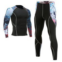 Warm Tshirt 3D mens underwear set compression fleece sweat quick-drying thermal brand clothing spot high quality