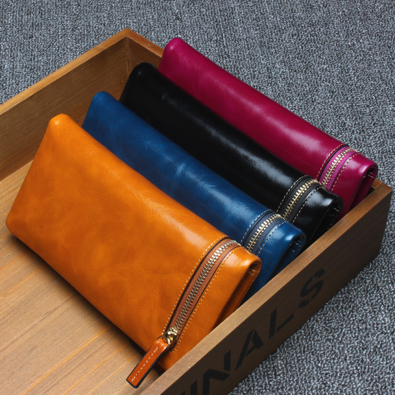 Women Genuine Leather Wallets 2017 New Fashion Long Design Purse Real Leather Lady Wallet Clutch Bag Black Yellow Blue L3052 yuanyu free shipping 2017 hot new real crocodile skin female bag women purse fashion women wallet women clutches women purse