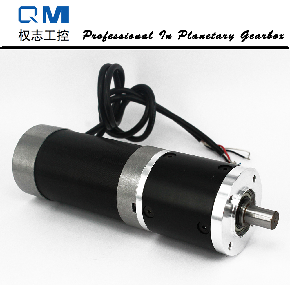 Gear dc motor planetary reduction gearbox ratio 20:1 nema 23 180W gear brushless dc motor 24V bldc motor high quality 5n m 42 42 119 7mm brushless dc motor with planetary gearbox reduction ratio 104 8