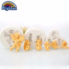 Фотография 5 style Angel silicone fondant molds Little Cupid cake decoration tools mini chocolate candy clay mould kitchen baking form