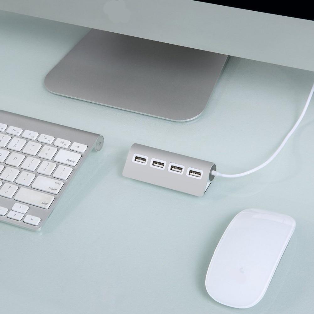 Neue 4 Port 2,0 Aluminium USB Hub mit Abgeschirmtes Kabel für iMac ...