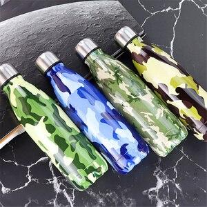 Image 4 - מותאם אישית 24 צבעים BPA משלוח מים בקבוק קפה תרמוס בקבוק נירוסטה בירה תה שייקר נייד נסיעות ספורט מבודד גביע