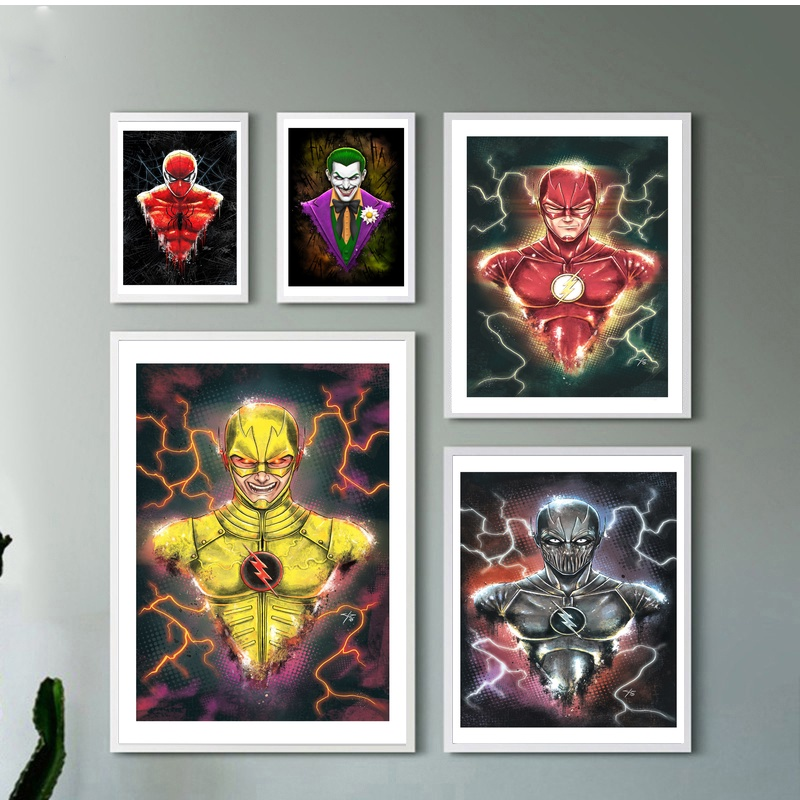 Comics Marvel Super Heroes Movie Poster Art Canvas Print Home Children's Bedroom the Wall Picture Decorator