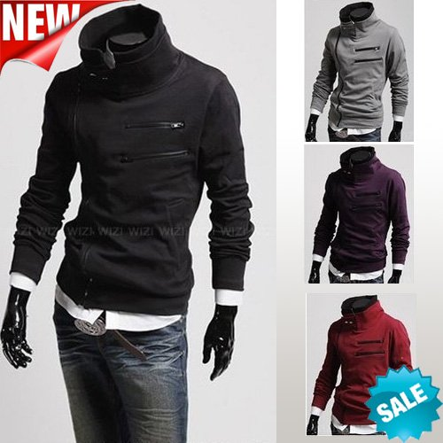 Fashion Autumn winter New Korean men's sweater Long sleeve jackets and coats male models men clothes Free shipping Hot Sale