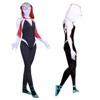 New 3D Women Gwen Stacy Spider-man Cosplay Costume Spiderman Zentai Superhero Bodysuit Suit Jumpsuits - DISCOUNT ITEM  5% OFF All Category