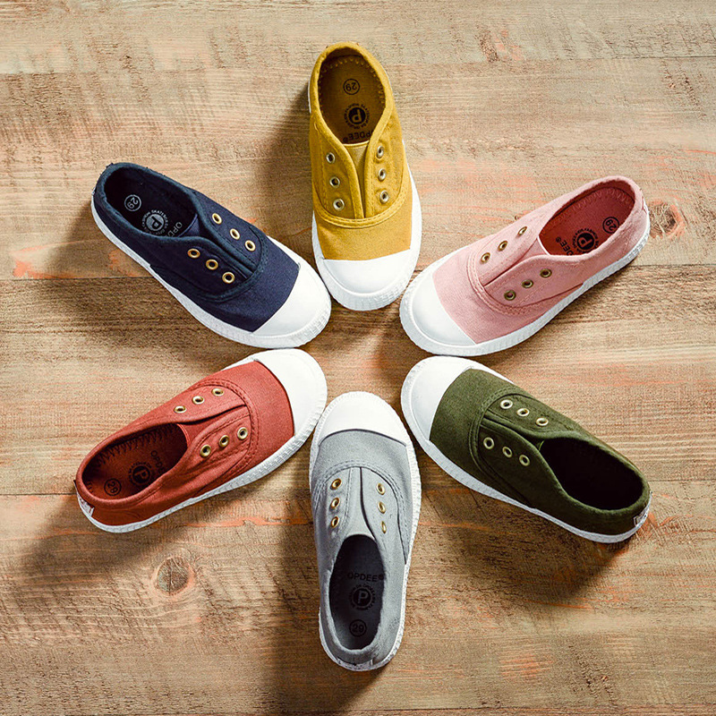Kids Shoes Spring Autumn Children Casual Shoes Boys Girls Canvas Shoes Soft Comfortable Slip-on Sneakers Size 20-38 1-12t