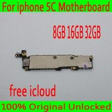 8 ГБ 16 ГБ 32 ГБ оригинальный разблокирован для iphone 5C материнская плата с полным чипом, для iphone 5C логическая плата с бесплатным iCloud, хорошее тестирование