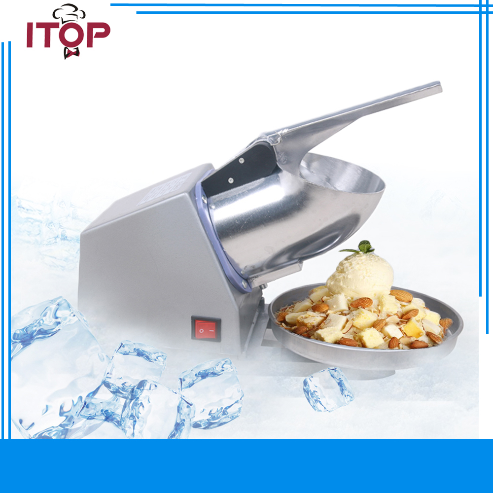 ITOP Ice Chopper Electric Ice Crusher CE Shaver chopper JUICE Snow Cone Maker shatter CN in stock vl 3006a small household crusher use 220 v 50 hz snow ice shaver electric ice crushed beard maker 35w ice cream maker 800ml
