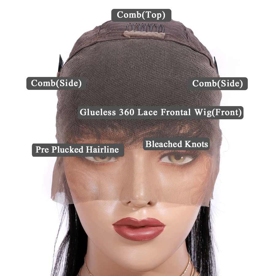 360 парики из натуральных волос на кружеве с детскими волосами, влажные и волнистые парики на фронте шнурка, перуанские прямые волосы отбеливающий узел