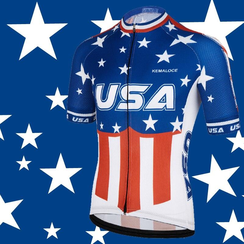 USA Marine International Hommes Cyclisme Jersey New American Sport Dirt Vélo Plein Air Vélo Chemise À Manches Courtes Pro Team Vélo Chemise