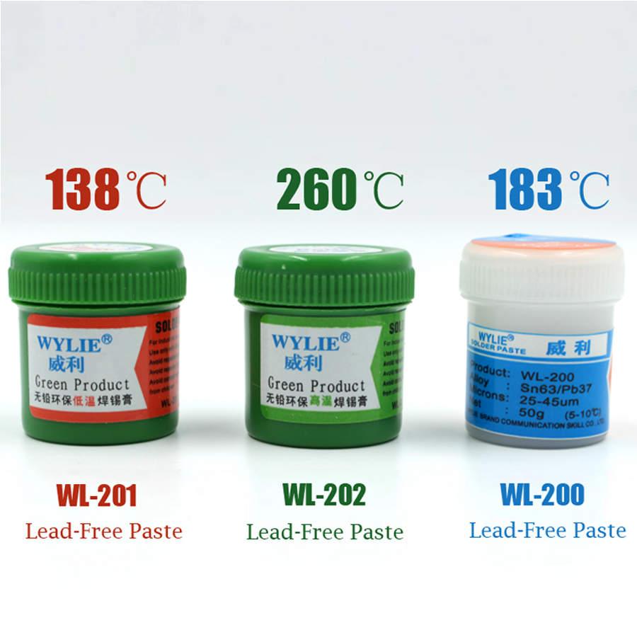 Best Melting Point 138 / 183 /260 Degrees Lead-free Low Temperature Solder Paste For A8 A9 A10 A11 CHIP Special Tin Pulp