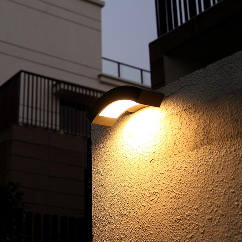 Modern Led outdoor wall lamp waterproof garden light balcony led sconce corridor outdoor Wall light path landscape lights lampe