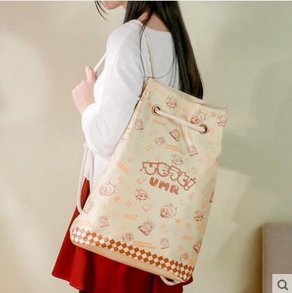 Free shipping Himouto! Umaru-chan Top Anime Japanese casual backpack Drawstring beam port Cartoo schoolbag Shoulders bags