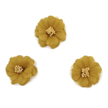 20pcs/lot 5cm Chiffon Flower DIY Handmade Ornament For Baby Headband Accessories MOMLOVEDIY