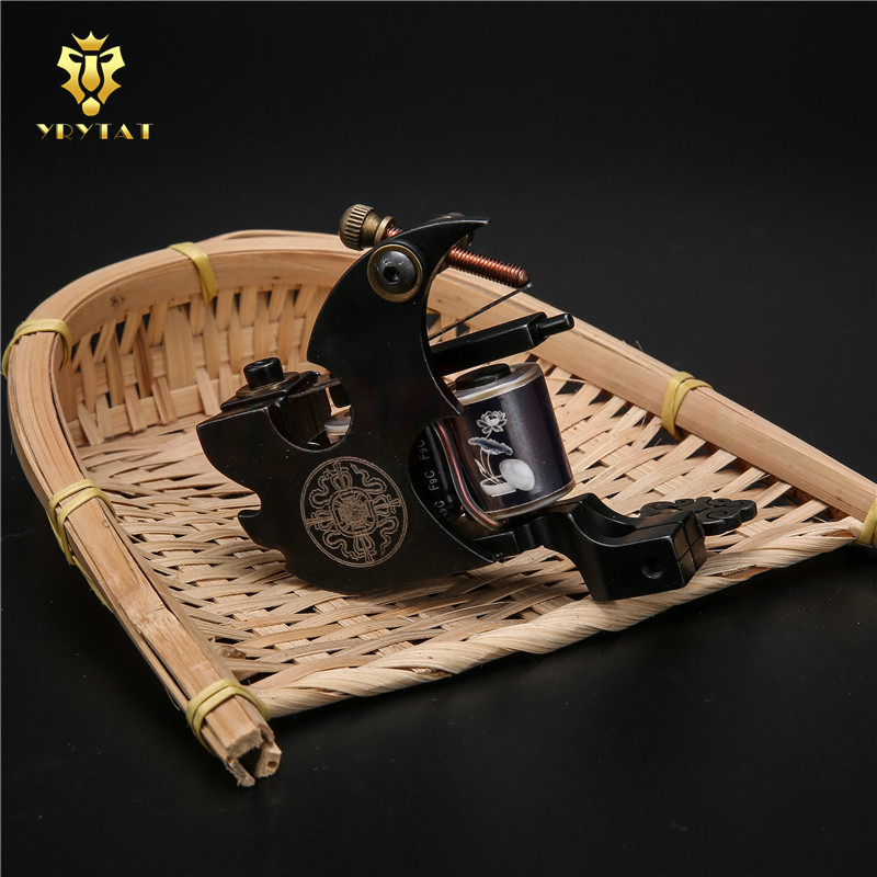 One YRYTAT Custom Professional Hand Made Shader Luo s 10 Wrap Coil Tattoo Machine Gun Supply