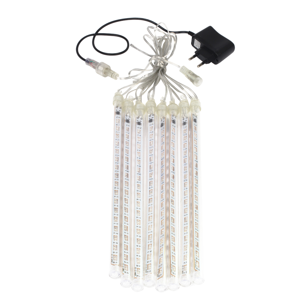 LED Meteor Shower Rain Tubes 30cm 8 Tube Christmas String <font><b>Light</b></font> Waterproof <font><b>Home</b></font> Garden Party Wedding <font><b>Decoration</b></font> EU/US Plug image