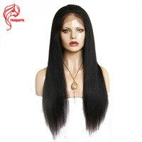 Hesperis шелк базы парики с ребенком волос бразильского Реми Шелковый топ Full Lace человека Хари парик предварительно сорвал свет яки полная парик