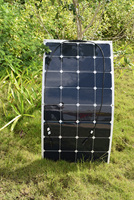 100w Semi Flexible Solar Panel For RV Boat Golf Cart Marine Yachts Home Use Designed For